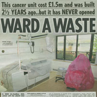 Cancer Ward Scandal (The Sun)